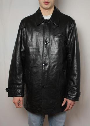 Куртка gap кожаная черная размер м