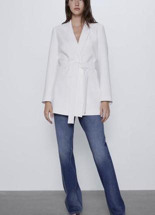 Белый строгий пиджак новый zara