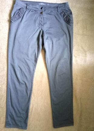 Модные джинсы с высокой посадкой р.54/56 на высокий рост