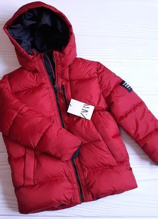 Дутая куртка zara на флисовой подкладке