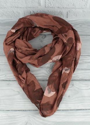 Итальянский шарф girandola 0001-135 терракот, цветочный, коттон 80%, шелк 20%