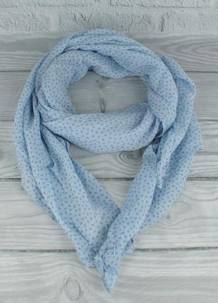 Итальянский шарф girandola 0001-136 голубой, принт небо, коттон 80%, шелк 20%