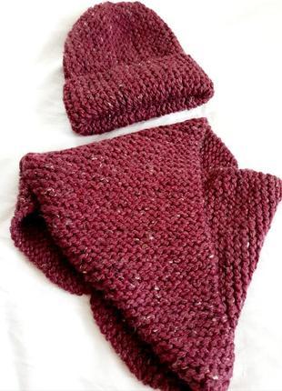 Hand made комплект шапка біні та хомут.