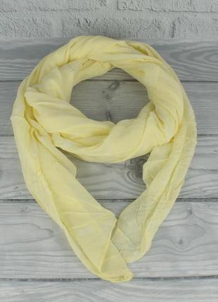Итальянский шарф girandola 0001-140 желтый с ананасами, коттон 80%, шелк 20%
