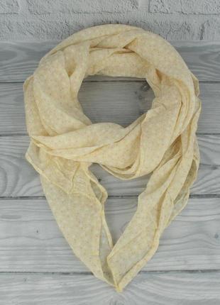 Итальянский шарф girandola 0001-142 желтый цветочный, коттон 80%, шелк 20%