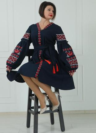 """Жіноче вишите плаття """"камілла"""" pj-0027"""