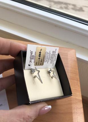 Нові неймовірні сережки срібло