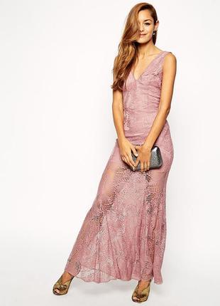 Очаровательное вечернее кружевное платье asos