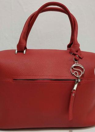 Женская вместительная сумка (красная) 20-02-017