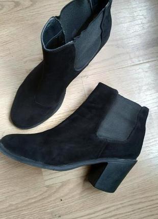 Ботильоны челси ботинки черные