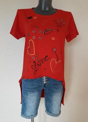 Мега-крутая,трендовая туника, футболка с длинной спинкой pink daisy,турция