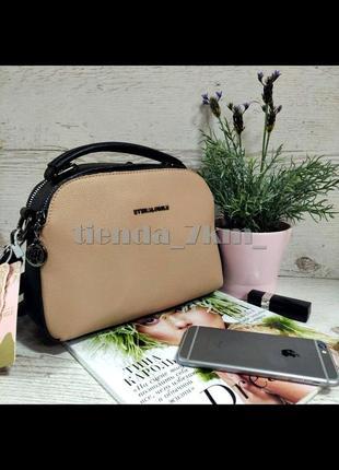 Женская сумка через плечо / повседневный клатч eteralsmile hx136 black/pink
