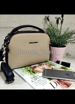 Женская сумка через плечо / повседневный клатч eteralsmile hx136 black/khaki