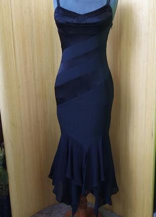 Вечернее чёрное  платье натуральный шелк  karen millen