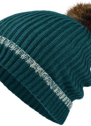 Красивая изумрудная шапка термо на флисе esmara