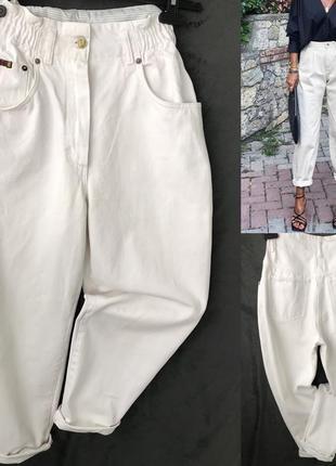 Белоснежные джинсы бананки как новые m/s