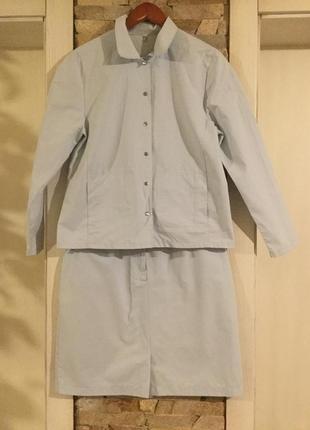 Стильный котоновый костюм премиум класса от steilmann. германия.
