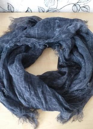 Итальянский льняной шарф-палантин