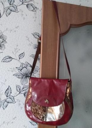 Кожаная номерная сумка