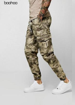Камуфляжные штаны с карманами камуфляжные штаны м карманами boohoo