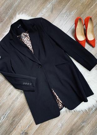 Стильный удлинённый базовый пиджак/ жакет от gina benotti