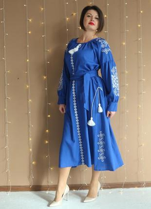 """Жіноче вишите плаття """"карісса""""  pj-0035"""