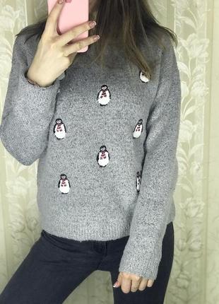 Свитер с пингвинами