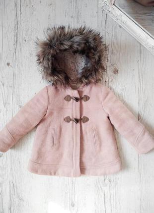 Милое пальто zara baby girl