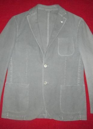 Пиджак блейзер l b m 1911 lubiam хлопок + кашемир италия