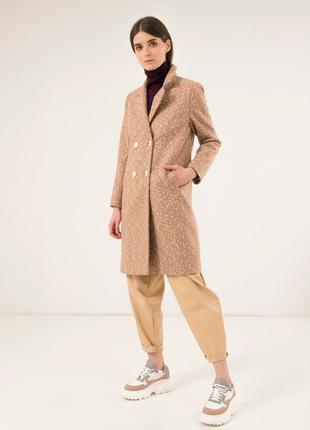 Стильное шерстяное пальто season перис бежевое