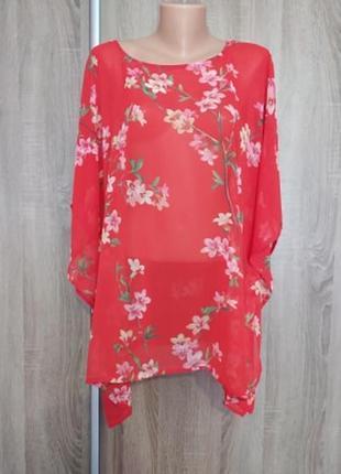Красивая и нарядная блуза/ длинна-74, пог-68, пот-62