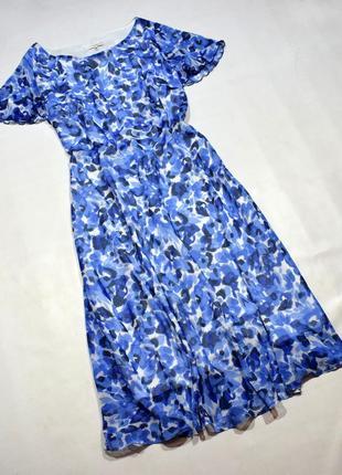 Красиве плаття міді у квітковий принт