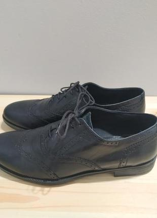 Черные кожаные броги vagabond, туфли ботинки на шнурках дерби