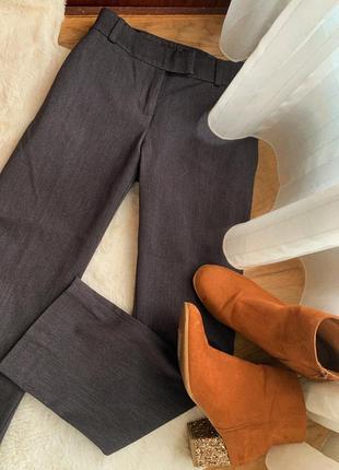 Серые прямые классические брюки