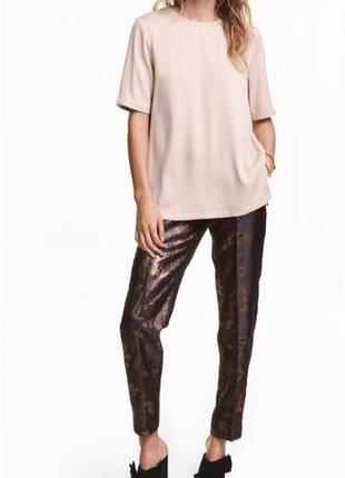 Розпродаж! очень стильные брюки из жаккардового материала h&m