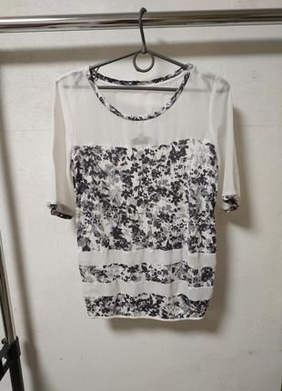 Блузка футболка размер uk 6 наш 40-42