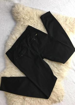 Крутые чёрные брюки штаны pull & bear