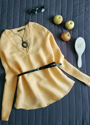 Роскошная льняная рубашка (100% лён)