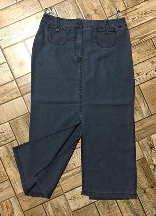 Лёгкая джинсовая юбка с разрезами,лён+lyocell,franco callegari