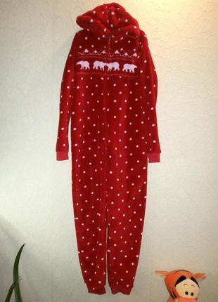 Слип пижама очень теплая для девочки 13-14лет