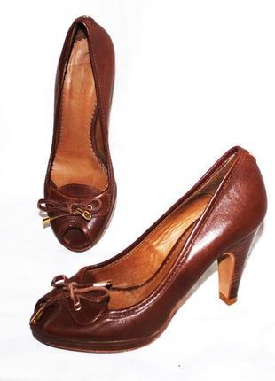 Элегантные туфли кожа massimo dutti, испания 37р