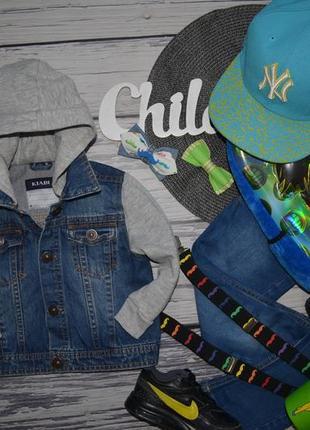 2 года обалденный фирменный пиджак джинсовая курточка куртка с капюшоном