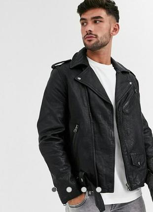 Topman мужская кожаная куртка