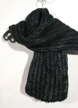 Тёплый вязаный шарф с напылением  lidl германия оригинал европа