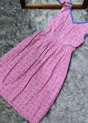 Платье c отрезной талией из коттона/ситца
