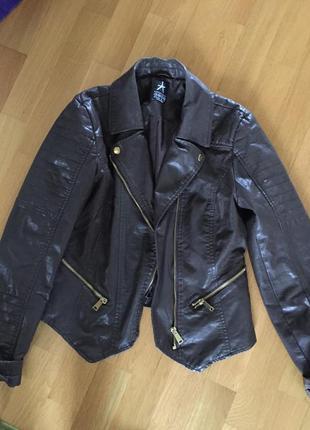Кожаная куртка косуха asos