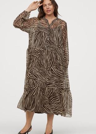 Шифоновое платье h&m  50-52-54