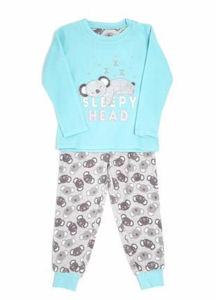 Флисовая пижамка dunnes stores для девочек на 2-3,7-8 лет