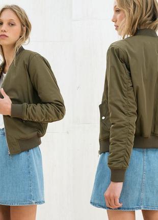 Куртка бомбер женская bershka с