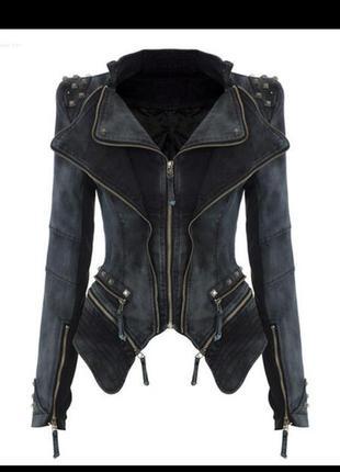 Shalang крутой шипованый пиджак-куртка